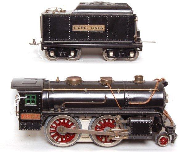 12: Lionel prewar SG 384 loco and 384T tender