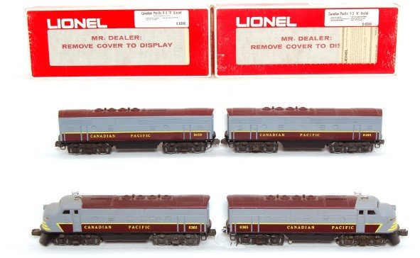 19: Lot of 4 Lionel 8365 8366, two 8469 CP F3 Diesel