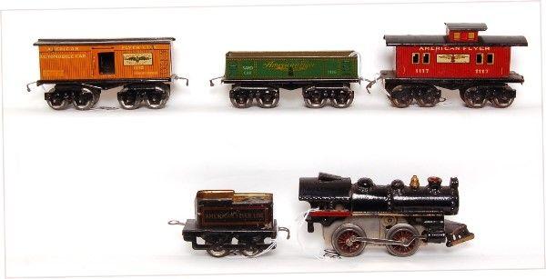 American Flyer prewar steam freight set