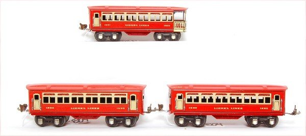 804: Lionel prewar 1690, 1690 and 1691 cars