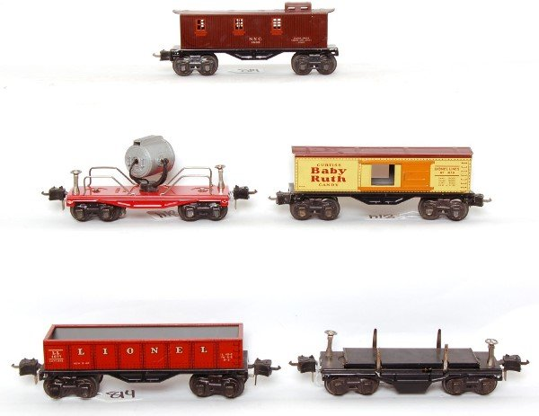 814: Lionel prewar 1677, 1679, 3651, 2620 and 1682