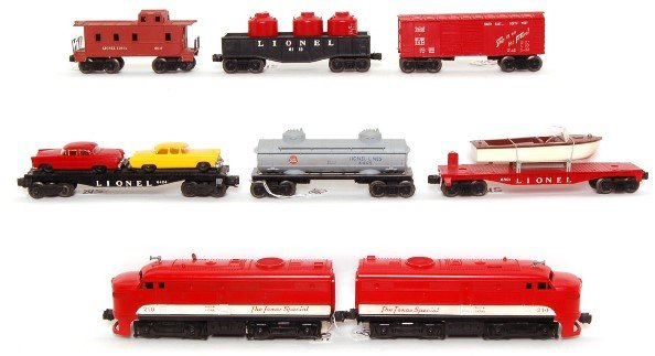 815: Lionel boxed 1599 set with 210 Texas Special - 2