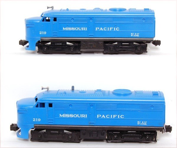 817: Unrun Lionel 219 Missouri Pacific Alco AA units