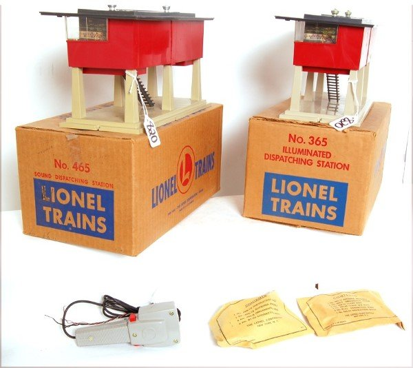 820: Lionel boxed 365 and boxed 465 accessories