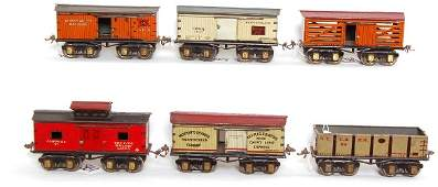 869: Ives group of O gauge freight cars
