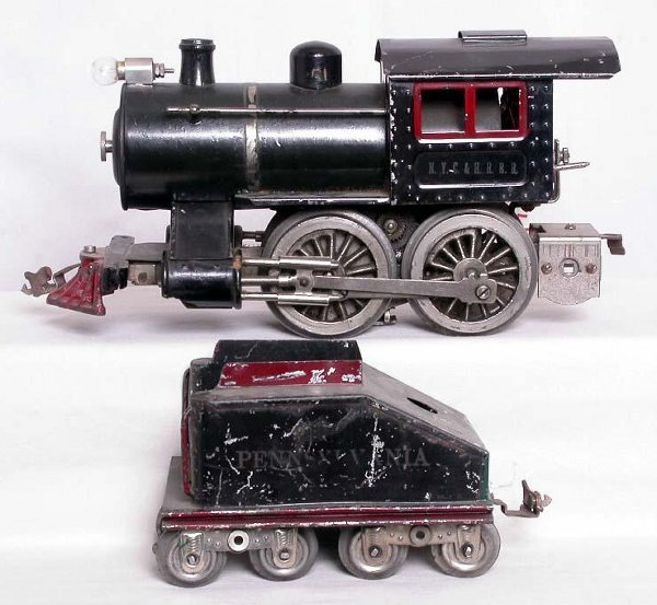 4: Lionel prewar No. 5 steam loco and tender