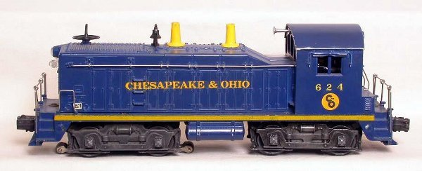 9: lionel 624 Chesapeake and Ohio switch engine