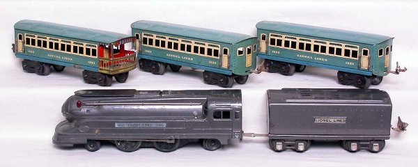 15: Lionel 1688 with front windows and pass. cars