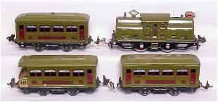 Lionel prewar 252 olive set with 529 and 530