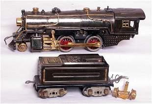 Prewar American Flyer steam engine, nickel