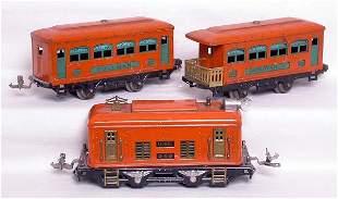 Lionel orange 248 prewar with 629 and 630