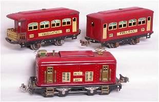 Lionel prewar red 248, 629 and 630