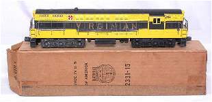 Lionel 2331 Virginian FM black and gold with OB
