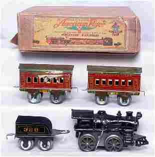 American Flyer prewar wind up boxed set 3221