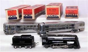 Lionel prewar 264E, 261X, 618 and 619 in boxes