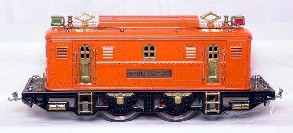 301: Tough Lionel prewar orange 9U in the original box