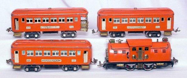 309: Lionel prewar No 4 orange with 605 and 606
