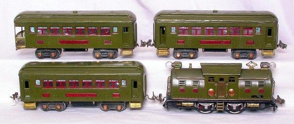 311: Lionel prewar olive 254E, 605, 605 and 606