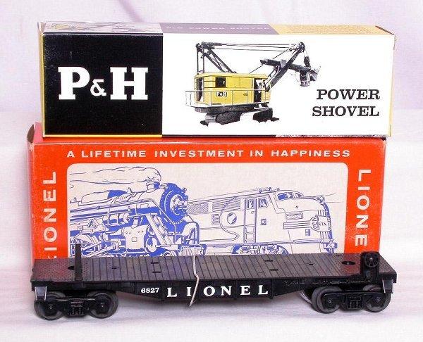 312: Mint Lionel 6827 P&H crane car in the box