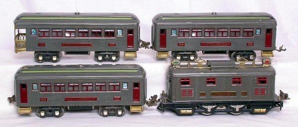 315: Lionel prewar 251E gray with 605, 605 and 606