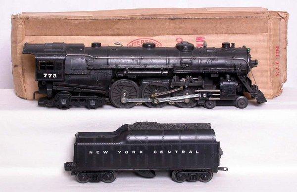 322: Lionel 1964 model 773 Hudson and tender, OB