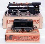 469: Lionel prewar O 262E loco and 262T tender w/ OBs