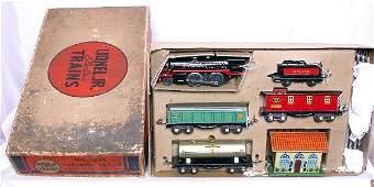 662: Lionel prewar 1054 boxed JR train set