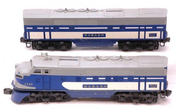 2102: Lionel 2240 Wabash F3 AB Diesels