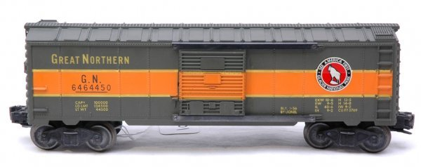 2601: Lionel 6464-450 Great Northern Boxcar Like New