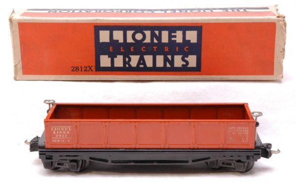 2611: Lionel 2812 Orange Gondola Boxed