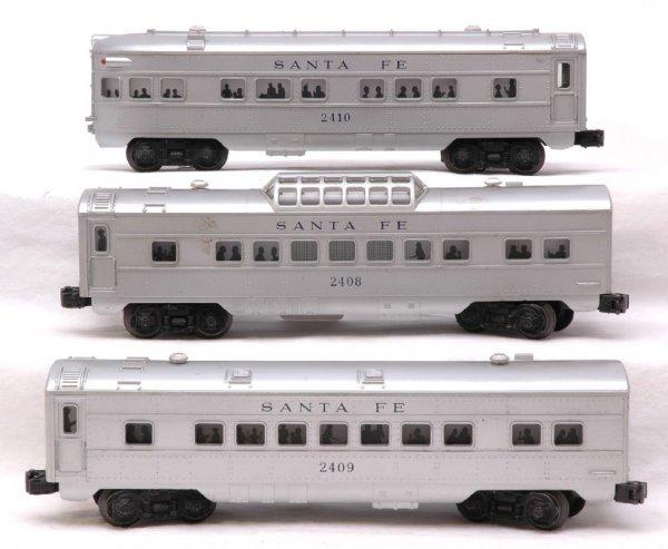 2613: Lionel SF 2409 Pullman 2408 Vista 2410 Obs