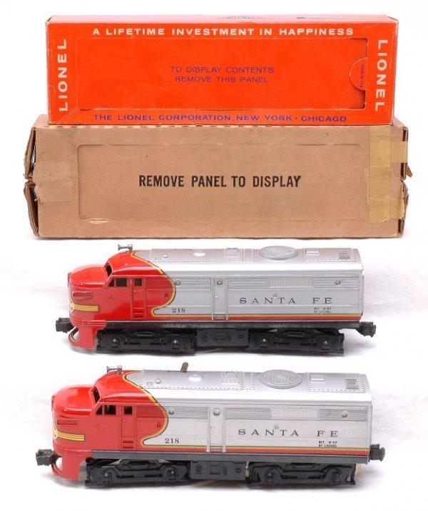2614: Lionel 218 Santa Fe AA Alcos Boxed