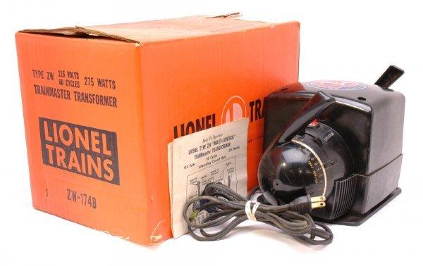 2615: Lionel 275 Watt ZW Transformer in Orange OB