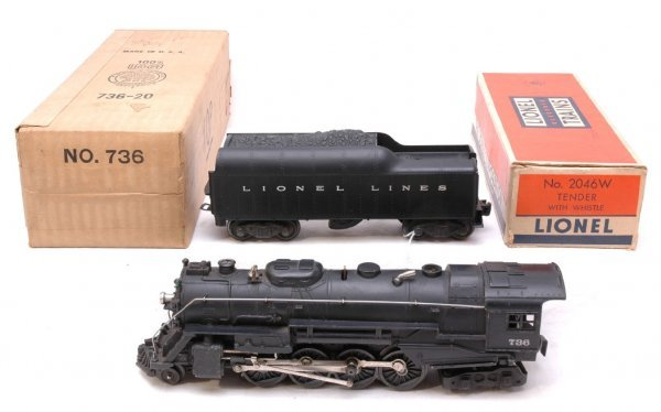 2616: Lionel 736 Bershire with 2046W Tender Boxed