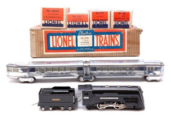 2816: Lionel 279E Silver Streak Passenger Set Boxed