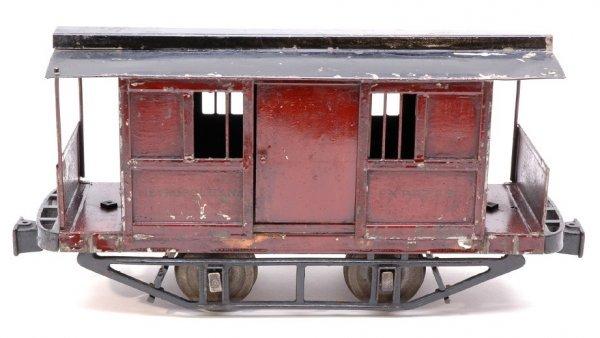 2843: RARE Lionel 2-7/8 inch Box Trailer Car