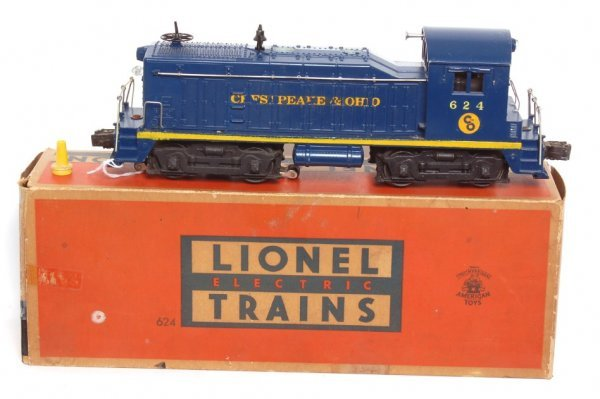 3004: Lionel 624 Chesapeake and Ohio switcher, OB