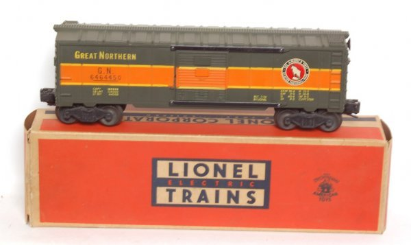 3012: Lionel 6464-450 Great Northern boxcar, OB