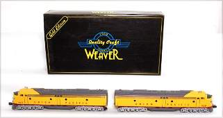 3344: Weaver EMD E-8 AA diesel set Union Pacific 3 rail