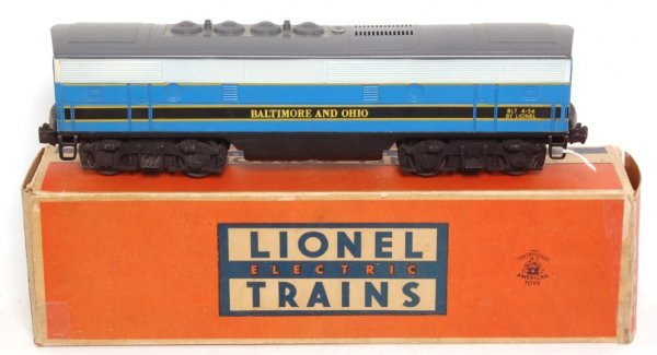 3801: Lionel 2368 Baltimore and Ohio F3 B unit only, OB