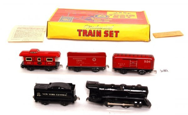 3804: Nice Marx boxed 833 steam freight set