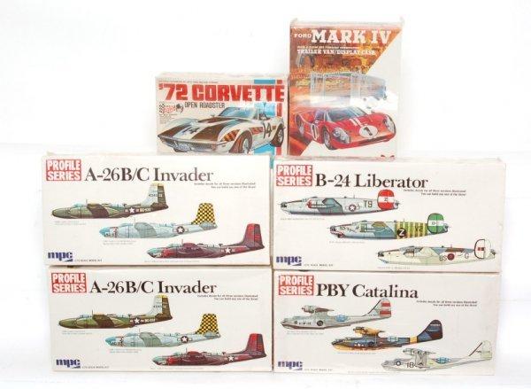 3806: 4 mint MPC kits A26 Invader, PBY Catalina, B24