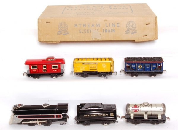 3808: Marx boxed 3897 steam freight set