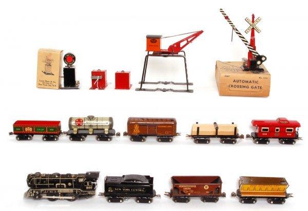 3812: Large Marx boxed 15400M eight wheel freight