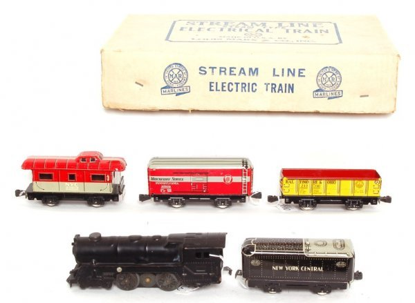 3816: Marx boxed 5622 freight set