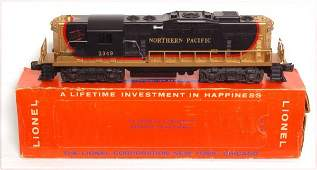 4105: High grade Lionel 2349 Northern Pacific GP, OB