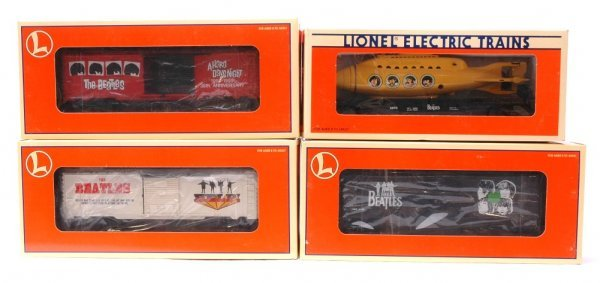 12: Lionel Beatles Freight Cars MINT Boxed