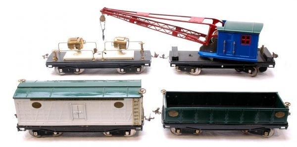 13: Lionel 212 Gon 214R Boxcar 220 and 219 Crane