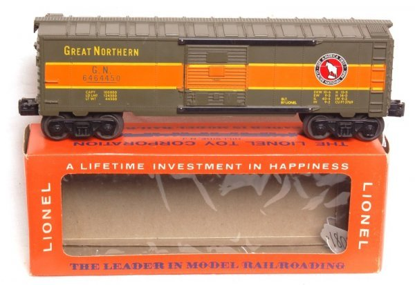 1802: Mint Lionel 6464-450 Great Northern boxcar, OB
