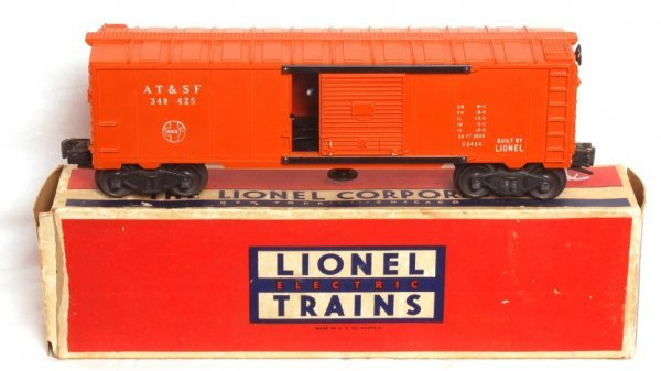 1817: Lionel 3484-25 ATSF operating boxcar, OB